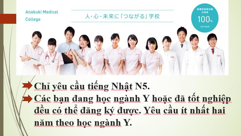 Chương trình Điều dưỡng Trường Anabuki