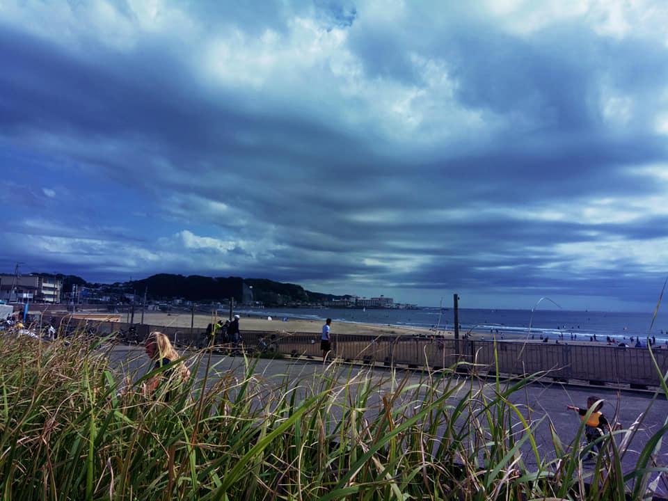 Bờ biển ở kamakura