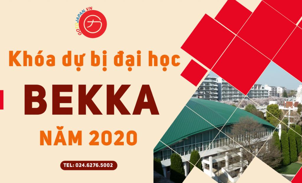 Chương trình dự bị đại học Bekka năm 2020