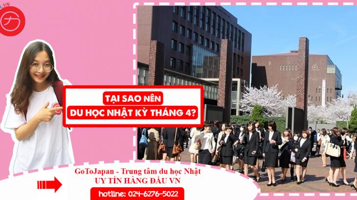 du học Nhật kỳ tháng 4