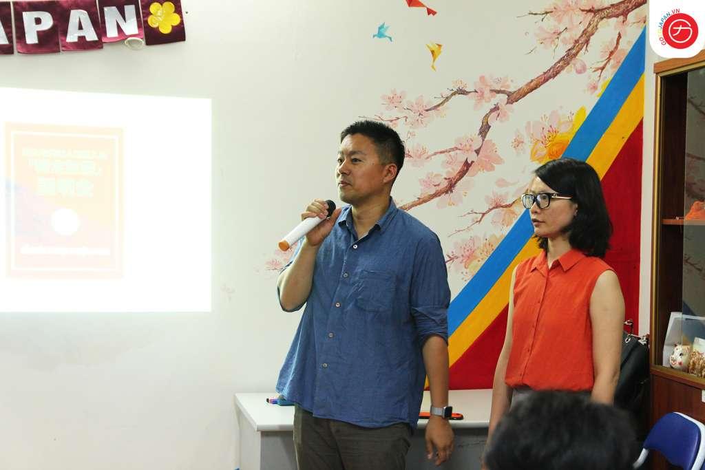 Anh Tanaka và chị Minh Nhật từ tổ chức MPKEN