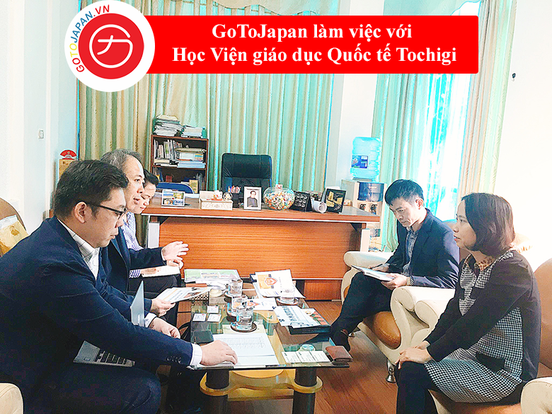 GoToJapan làm việc với Học viện giáo dục Quốc tế Tochigi